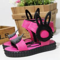 2013 rabbit ears child sandals female child princess single shoes children gladiator shoes