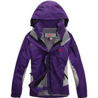 FZ709203 New arrival woman winter jacket Outdoor sports coat ladies Waterproof breathable windproof 2in1 female coat with hood
