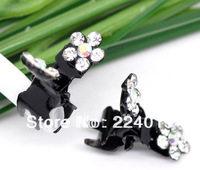 Free Shipping  !20 pcs /20*13mm Set AB Color Crystal Rhinestone Black Hair Claws Women Hair  Jewelry Hairwear
