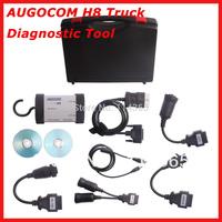 2pcs/lot  Heavy Duty Truck Diagnostic Tool AUGOCOM H8 + Software Diesel Truck Interface Same Function As Nexiq USB Link
