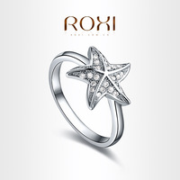 ROXI Exquisite Fashion Starfish Ring,Platinum Plated with AAA zircon,fashion Environmental Micro-Inserted Jewelry,1010151002