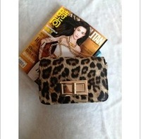 2014 new tide female cute little bag Retro fashion handbag necessary fashionable leopard print one shoulder chain aslant bags