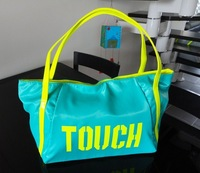 free shipping Bright color women's handbag shoulder bag neon canvas shopping bag candy color big bags