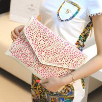 2013 fashion punk rivet day clutch envelope women's handbag bag 333