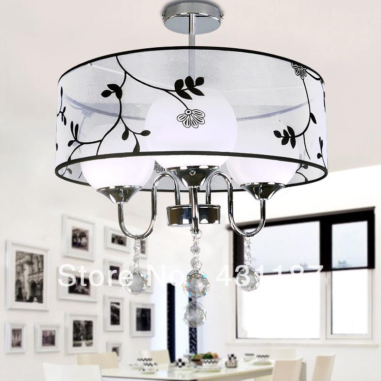 Brief fashion modern pendant light bedroom lamp pendant lamp fitting crystal lighting md052(China (Mainland))