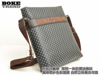 2013 thin casual male bags light check male bags vertical messenger bag