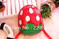 15-inch strawberry Eggshell Backpack/ children backpack / backpack hard shell / shell backpack / Gift