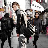 2013 fashion personality casual bag bucket bag one shoulder cross-body bag men