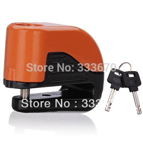 10mm Security Motorcycle Motorbike Sturdy Wheel Disc Brake Lock Safety Alarm + key New(China (Mainland))