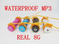 WaterProof Mp3 Player With REAL 8GB IPX8 Water Proof Swimming Sport MP3 Player FM Radio free shipping 150pc