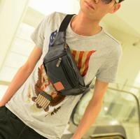2013 man bag fashion small chest pack brief bag casual small waist pack messenger bag
