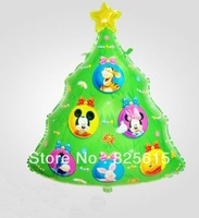 Free shipping  50pcs/lot christmas trees balloon cartoon balloon mickey&minnie mouse balloon