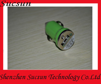 New free shipping colored universal car charger for iphone etc mobile phone USB car charger