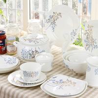 Bone china dinnerware set dishes spoon ceramics tableware microwave
