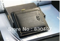 genuine leather wallet male wallet short design men's cowhide card holder card case with  6 card slots 2 SIM slots 2 billfold
