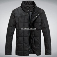 Free Shipping High Quality Winter Parka Plus size Men's Down Jackets Male's Thicken Jackets Coats GXL02-1 Black Color