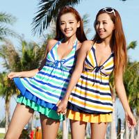 free shipping Schuman swimwear one-piece dress swimwear summer female swimwear women's clothing 1320
