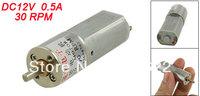 30RPM 12V 0.5A High Torque Mini Electric DC Geared Motor 16mm