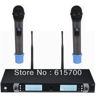 Professional UHF Dual Wireless Handheld Microphone System with 2 wireless microphones