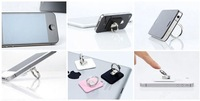 Tablet Holder chrome ring holder stand for ipad holder 360 degree rotating adjustment car holder freeshipping