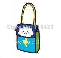 2014 new designed 3d women shoulder bag  carry in space shoulder bag free shipping