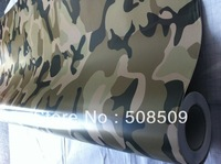 Desert camouflage vinyl film Air release channel car sticker 1.52m*30m car wrapping foil Free Shipping