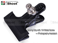 "Metal Clip/Clamp/Grip w 1/4"" Adapter Screw f Flash Mount Bracket Umbrella Holder"