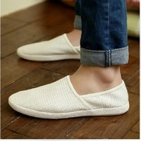 Breathable canvas shoes lazy fashion men's fashion casual shoes popular shoes low-top