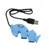 1pc 4 Port Fish Bone Shape USB 1.1 High Speed Hub For Laptop PC Computer Notebook BL