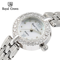 Royal crown watches elegant jewelry luxury diamond quartz ladies watch 3602