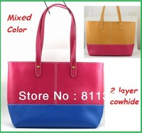 "2013 NEW Pop Fashion High Quality 2 Layer Cowhide Ladies Handbag, For Laptop Macbook Air 11"", Tablet, ipad, Lady Bag, Free Ship"