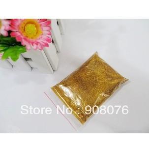 Loose Laser Gold Color Shining Nail Glitter Dust Powder for DIY Nail Art 3 bags/lot Free Shipping(China (Mainland))