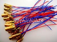 650nm 6mm DC3V 5mW Mini Laser Dot Diode Module Head WL Red 10pcs