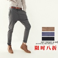 free shipping,Spring and summer new tyle,men's tide British haroun pants,korean slim fashion casual pants, suit pants multicolor