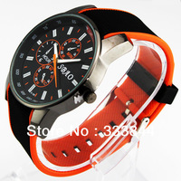 TOP SELL ! 4 COLOR NEW DESIGN FASHION WATCH & SPORT WATCH QUARTZ WATCH & HOURS CLOCK RUBBER MEN WRISTWATCH, W19