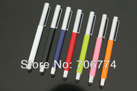 Universal metal 2 in 1 Capacitive touch pen stylus for all mobile phone and tablets 200pcs/lot Free Shipping