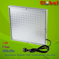 Free Shipping via china post 2PCSx 14W Horticulture LED plant Grow Lights Panel 225PCS Red+blue 8:1 ratio
