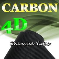 4D Black Carbon Fiber Sheet Wrap Air Bubble 5M/10M/15M/20M/30M
