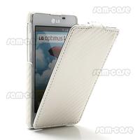 For LG Optimus L5 II E460 Vertical Leather Flip Case Carbon Fiber Pattern (MLC-E460-06) Free shipping