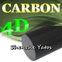 4D Black Carbon Fibre Sheet Wrap Film Air Bubble 5M/10M/15M/20M/30M