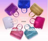 Free shipping/2013 summer new fashion candy bag/silica gel handbag/hot selling/BEST QUALITY