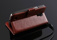 Newest Noble Retro wallet handbag For Samsung Galaxy S IV I9500 leather case cover with stand credit holder for S4