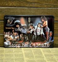 20*30cm Cartoon Tin Sign Concert Metal Poster Rolling Stones Home Wall Decor Iron Painting Guitar Bar Tin Sign