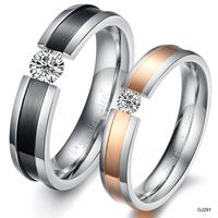 heart ring jewelry rhinestone fashion titanium lovers ring gj291 panda aquamarine engagement ring
