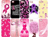 DHL Free Shipping !!100Pcs/lot Wholesale newest skin design Breast Cancer hard back cover Cell Phone cases for iphone 5 4 4s 4G