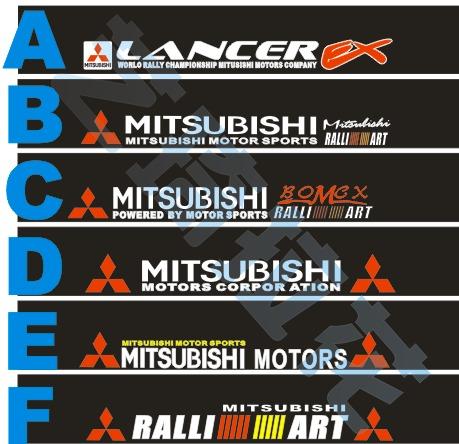 UG_ Mitsubishi front stop stickers lancer lancer MITSUBISHI car stickers customize carinthian(China (Mainland))
