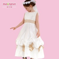 new 2013 Quality flower girl dress princess dress costume child formal dress for wedding -041 bow