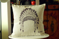 Wholesale - retro style Indian feather hat pillows decorate pillow cushion pillow cover, free shipping