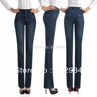 2014 plus size high waist women's jeans pants slim butt-lifting women's jeans flare women's pants free shipping