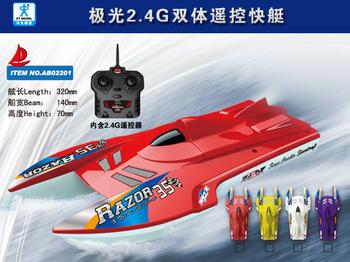 2013 equipment, zhongtian model boat 2.4g dual remote control boat ship model sea mode equipment -A